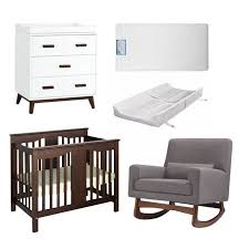 Walmart Nursery Furniture Sets 5 Nursery Furniture Set In Wood And Gray Walmart