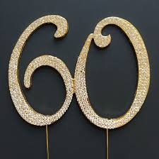 rhinestone cake toppers birthday cake toppers 60th