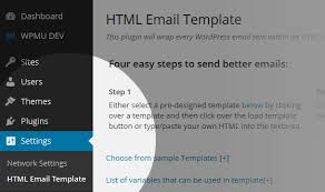 html email templates for wordpress