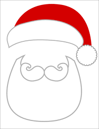christmas photo props santa beard and hat label templates