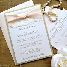 wedding invitations knot gold and ivory lace wedding invitation classic lace wedding
