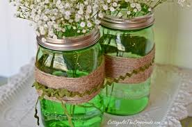 Pics Of Centerpieces by Easy Spring Centerpiece With Green Ball Jars