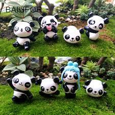 baiufor panda family garden miniatures micro landscape