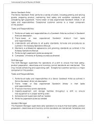 Sample Fast Food Resume by Fast Food Industry Analysis