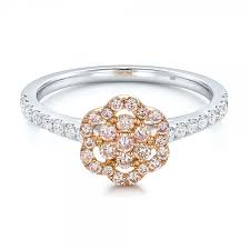flower engagement rings pink flower engagement ring 101952