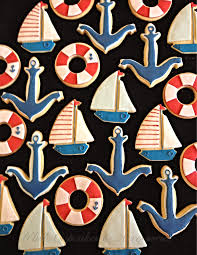 halloween fondant cutters nautical cookies sail boat cookies anchor cookies life buoy