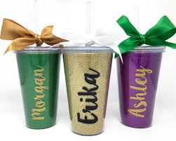personalized mardi gras personalized mardi gras glitter tumbler initially yours