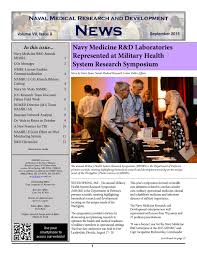 naval medical research center september 2015 newsletter by navy