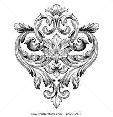 vintage baroque ornament retro pattern antique style acanthus