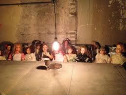this creepy photo was taken in the basement of a bar in arizona