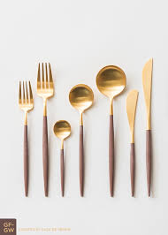Cool Flatware by Goa Flatware Gold Wood Casa De Perrin Design U0026 Objects