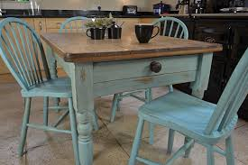 Shabby Chic Round Kitchen Table Of Including Cool Ideas Bedside - Farmhouse kitchen table with drawers