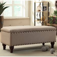 Fabric Bench For Bedroom White Upholstered Storage Bench Upholstered Storage Bench For