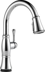 touch kitchen sink faucet delta 9197t dst cassidy single handle pull down touch kitchen