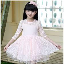 turmec girls white lace long sleeve dress