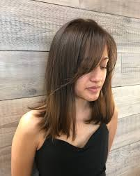 brunette hairstyles wiyh swept away bangs side swept bangs 43 ideas that are hot right now updated 2017