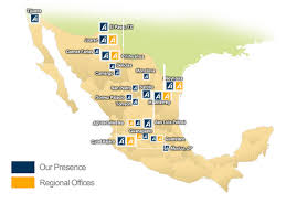 regions of mexico map our presence in mexico american industries back up 150426