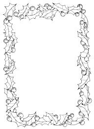 free christmas border clipart black white clipartxtras
