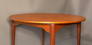 mid century circular teak extendable dining table 1960s for sale
