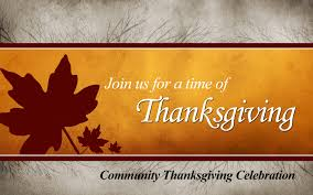 thanksgiving homily thanksgiving community service