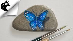how to paint a butterfly on a rock rock painting