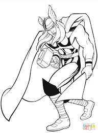 thor coloring page glum me