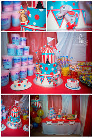 Carnival Themed Table Decorations My Sons First Birthday Circus Themed By Fisher Price Circus Bday