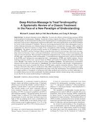 deep friction massage to treat tendinopathy a systematic review