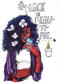 beautiful cartoon women art black is beautiful calmdownmorrissey in honor of the blackout the