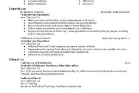 Perfect Resume Example by Food Safety Resume Examples Reentrycorps