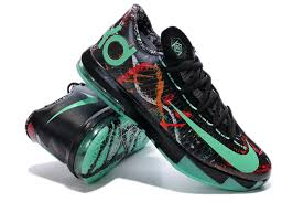 nike kd 6 gs illusion all multi color green glow