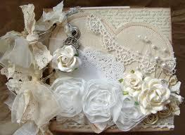 wedding scrapbook album custom order for melody shabby chic wedding album chipboard