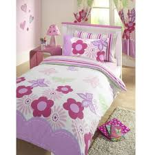 butterfly girls bedding girls sunny days floral butterflies reversible pink u0026 white junior