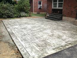 2017 Brick Paver Costs Price Patio Ideas Stamped Concrete Patio Cost Vs Pavers Stamped Cement