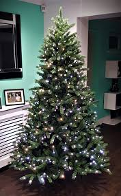 pre lit christmas tree sale 7ft ultra devonshire fir pre lit with warm white leds