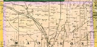 Butler County Ohio Map by Atlas Of Richland County 1856