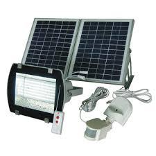 Remote Outdoor Light by Led Solar Flood Light W Remote U0026 Motion Sensor