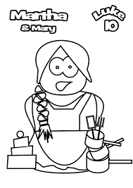 mary and martha coloring page saint was a model of home with