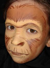 thought about painted face design combine this nice monkey and