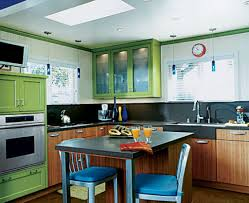 kitchen horrible marble counter under orange gloss wall cabinets