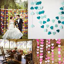 4m colorful heart paper garland for baby shower children kids
