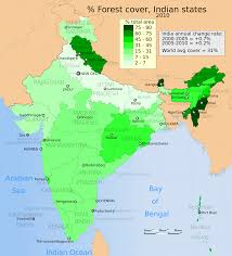 States Of India Map by File 2010 India Forest Cover Distribution Map For Its States And