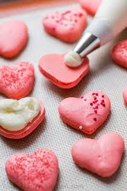 heart macarons with lemon buttercream video natashaskitchen com