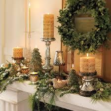 interior wreath fireplace decorating idea inexpensive