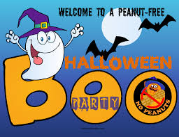 halloween party png nut allergies posters labels nut free party for halloween