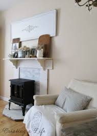 creating a life diy faux mantel update