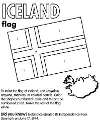 Iceland Coloring Page Crayola Com Flag Color Page
