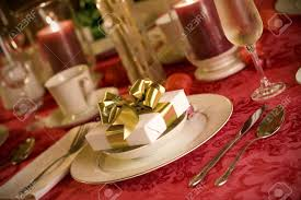 Elegant Table Settings Elegant Christmas Table Setting In Red And Gold Colors Gift