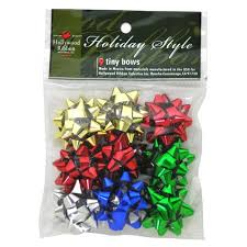 bags of christmas bows wholesale christmas 9 count ultra tiny assorted bows in bag glw