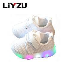 Sho Bayi led children shoes 1 3 year baby toddler soft bottom breathable